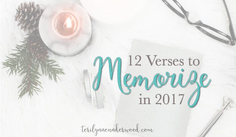 Memorizing Scripture is a valuable practice for spiritual maturing. 12 verses to memorize in 2017 for encouragement, inspiration, and growth.