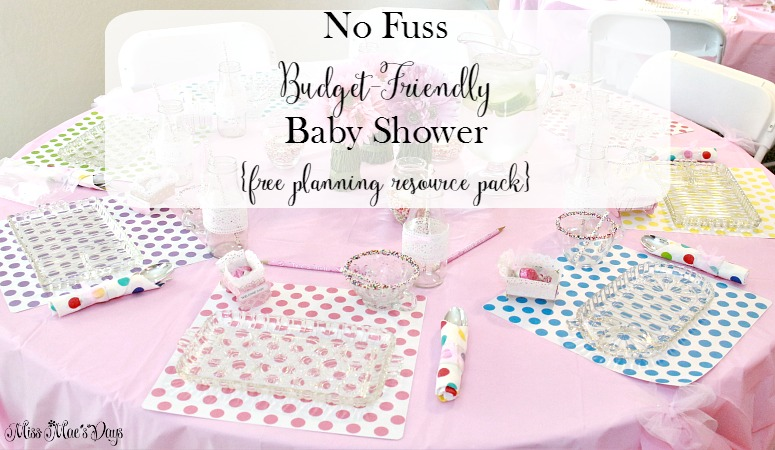 No Fuss Budget-Friendly Baby Shower