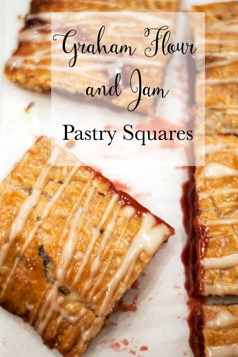 If one of your resolutions was to eat healthier, these pastry squares are a delicious way to start! They're made with graham flour and raspberry jam!
