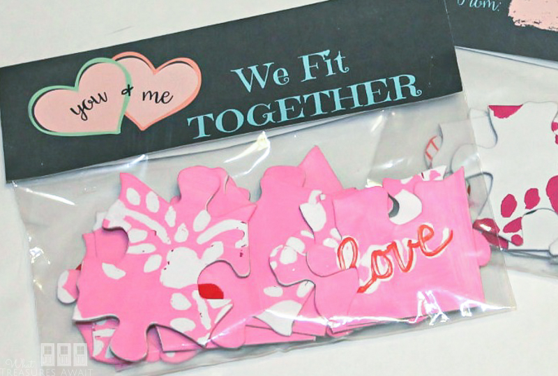 DIY Puzzle Valentine and printable tag