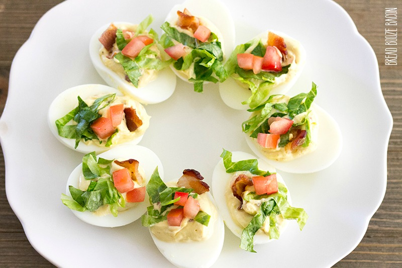 BLT Deviled Eggs are a fun party bite with all the flavors of the classic sandwich!