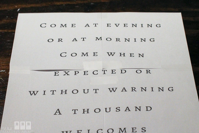 Make an Irish Blessing Welcome Sign with these easy tips! This is the perfect entryway sign!