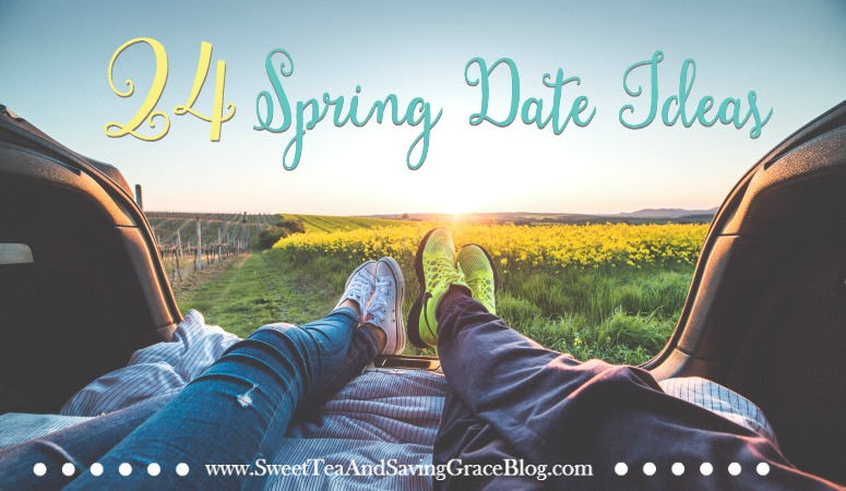 Spring Date Ideas for the Outdoorsy Types! The weather is getting warmer, the sun is shining. Grab your honey and pick some of these fun spring date ideas to head outdoors! 24 Spring Date Ideas, perfect for 12 Months of Dates!