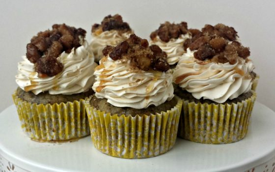 Banana Walnut & Maple Cupcakes
