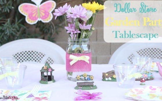 Dollar Store Garden Party Tablescape