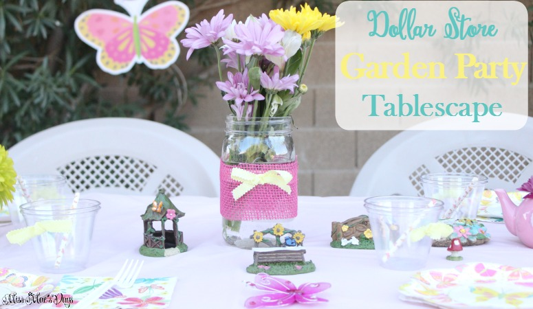 Dollar Store Garden Party Tablescape