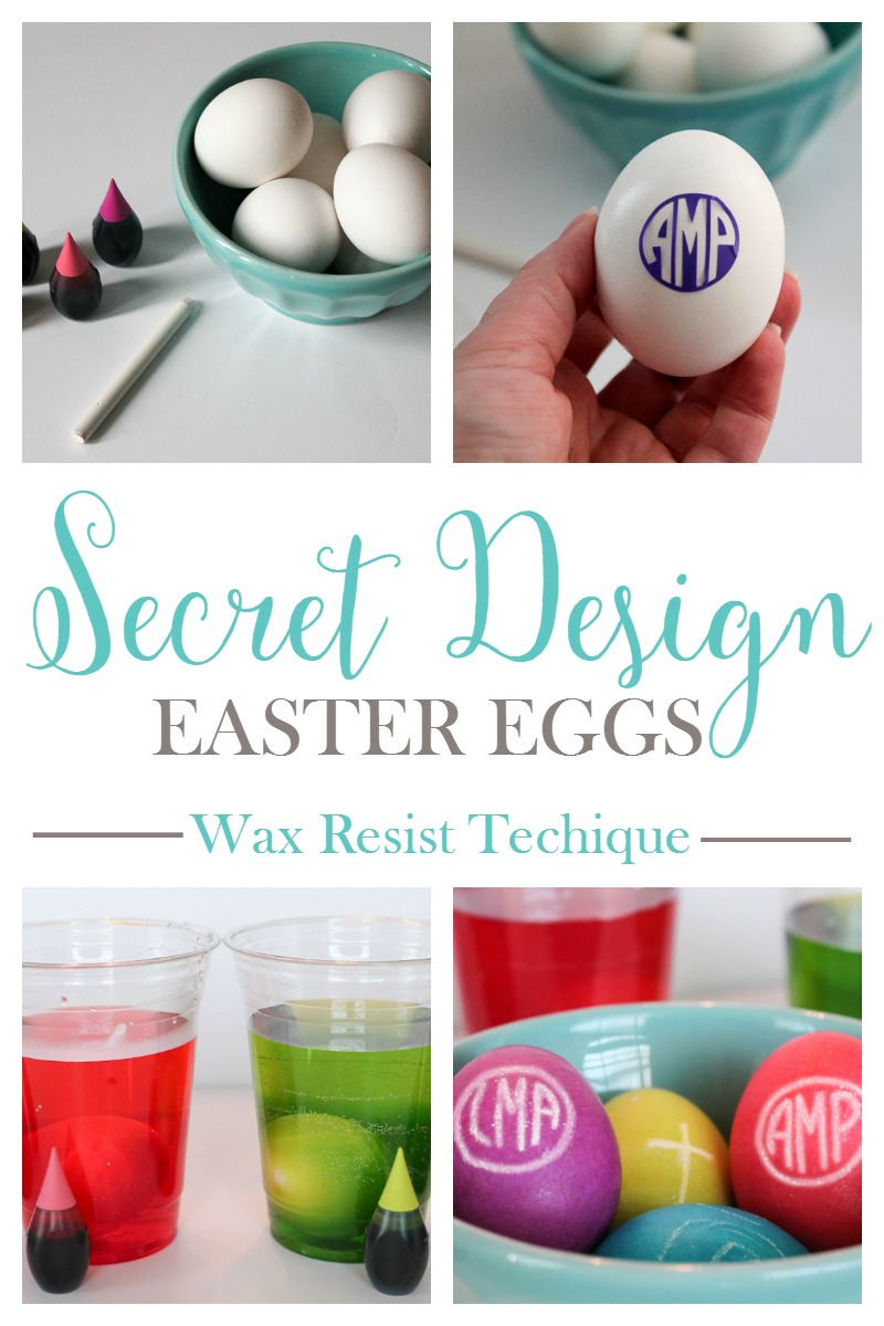 Use this wax resist technique to create a secret design Easter Egg!