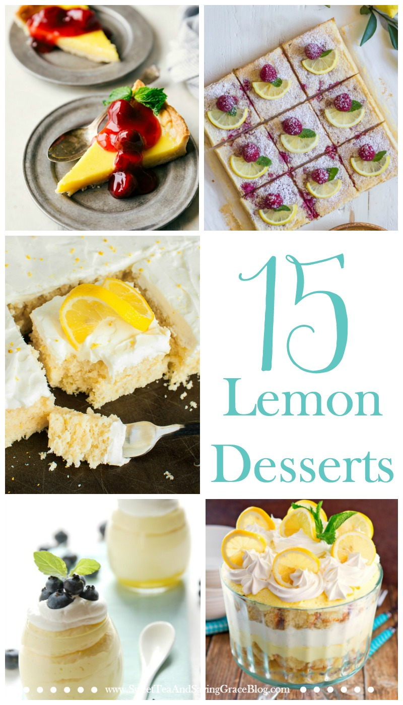 Lemon desserts are perfect for spring & summer! Try new lemon cakes, lemon cookies, and lemon bars for a delicious snack or party dessert!