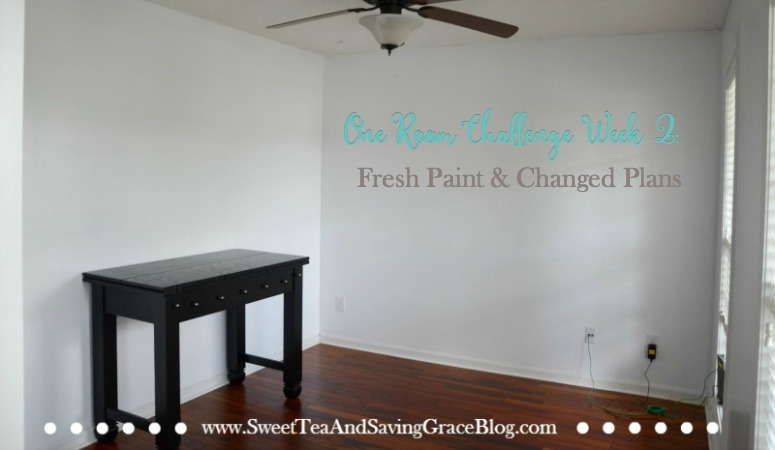 One Room Challenge: Week 2 (Fresh Paint & Changed Plans)