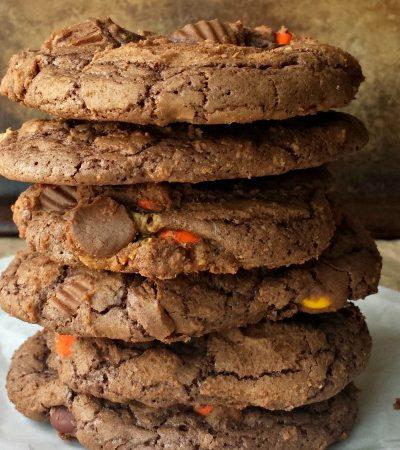 Hide in Your Closet Reeses Brownie Cookies