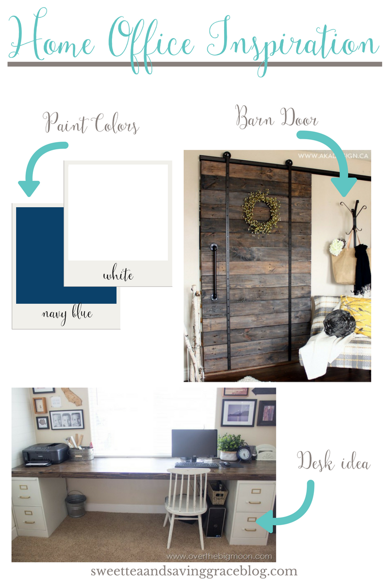 It's time for the One Room Challenge! I'm making over my home office (again), and for Week 1 of ORC, I'm sharing my plans and inspiration for a rustic home office.