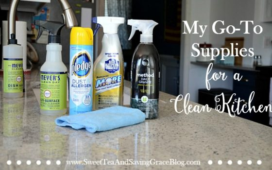 My Go-To Supplies for a Clean Kitchen