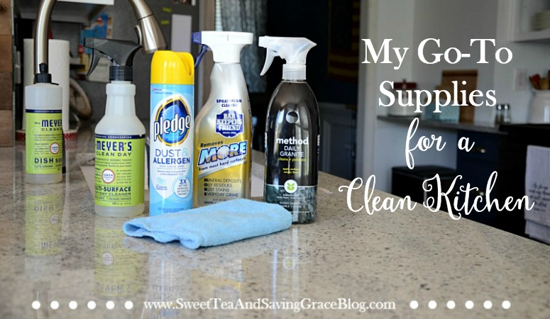 I'm sharing my daily and deep cleaning secrets and supplies for a clean kitchen! This is what I use to clean my stainless steel appliances, granite countertops, and white granite sink.