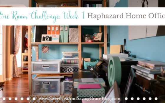 One Room Challenge: Week 1 (The Haphazard Home Office)