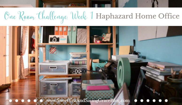 One Room Challenge: Week 1 (The Haphazard Home Office)