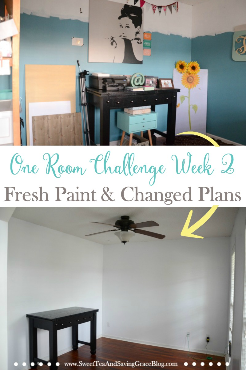 The One Room Challenge continues with Week 2, fresh paint, and a change of plans. I'm working on my home office but have had to alter the original design plans. Catch the latest!