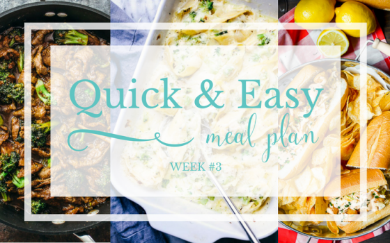 Quick & Easy Meal Plan #3