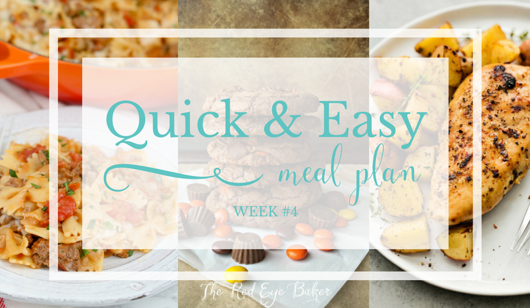Quick & Easy Meal Plan #4
