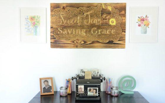 One Room Challenge: Week 6 (Rustic Home Office Reveal)