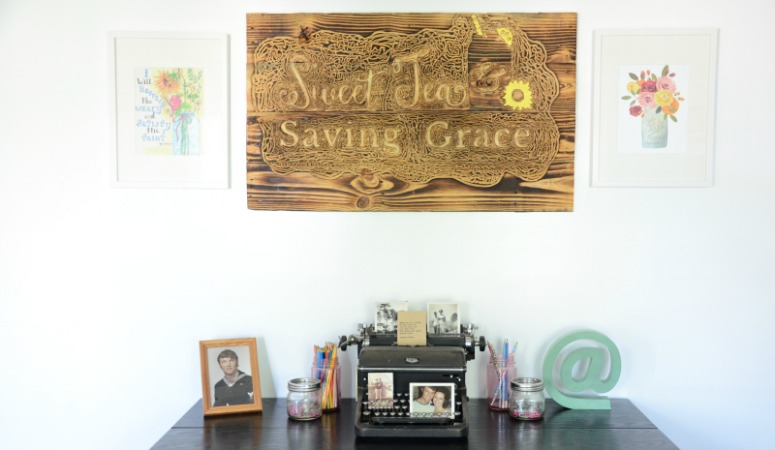 One Room Challenge: Week 6 (Rustic Home Office Reveal)