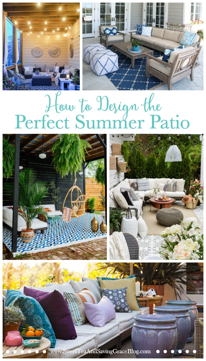 Time to dress up the deck and get outside for the summer! These outdoor spaces are great inspiration to help create the perfect summer patio, from lighting to textiles and everything in between!