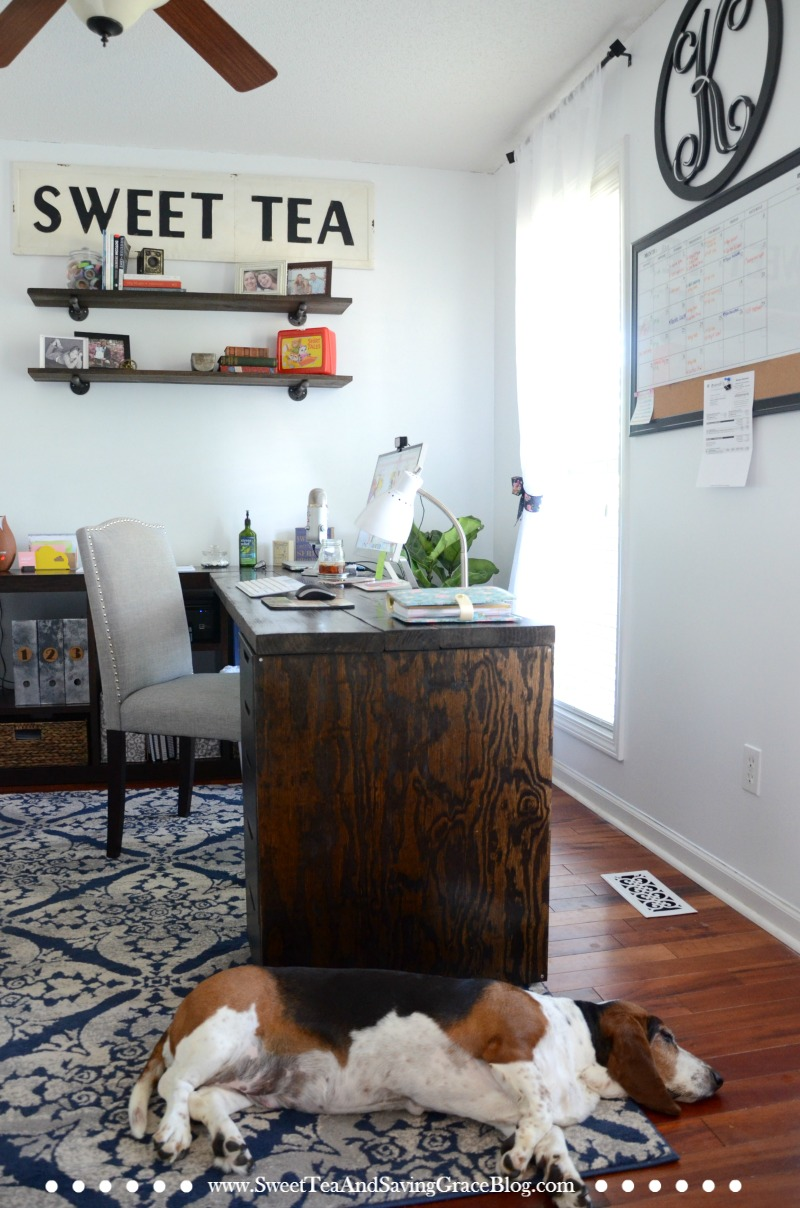 I Love The Look Of Rustic, Industrial Furniture, But For My Home Office,