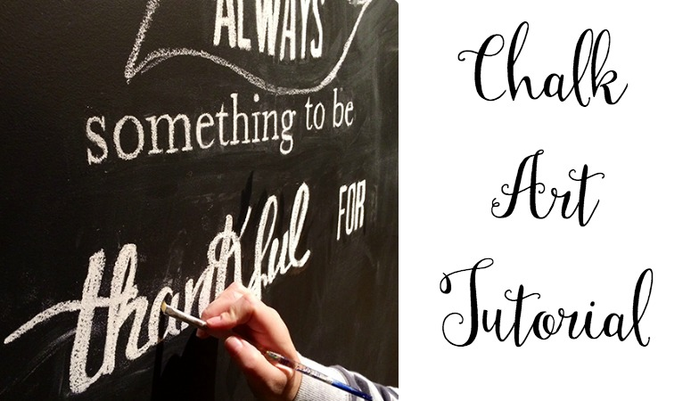 Jenn Shurkus stops by the blog to share a super easy-to-follow chalk art tutorial that anyone can do!