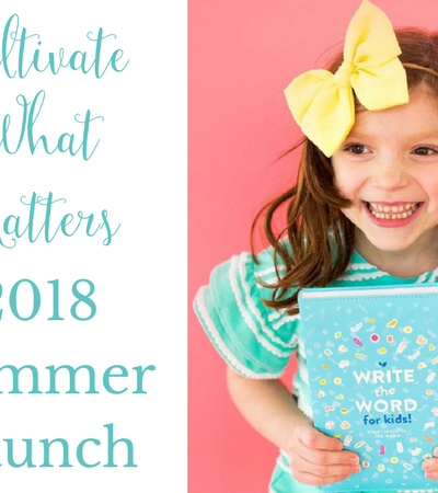 Cultivate a Joyful Summer with Cultivate What Matters!