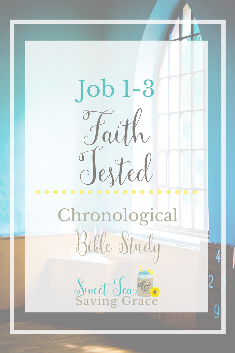 Chronologically, we're moving from Genesis to Job where we meet Job, a man of high integrity, whose faith is tested when God removes His protection and allows Satan to control various aspects of Job's life, causing him much hardship and pain.
