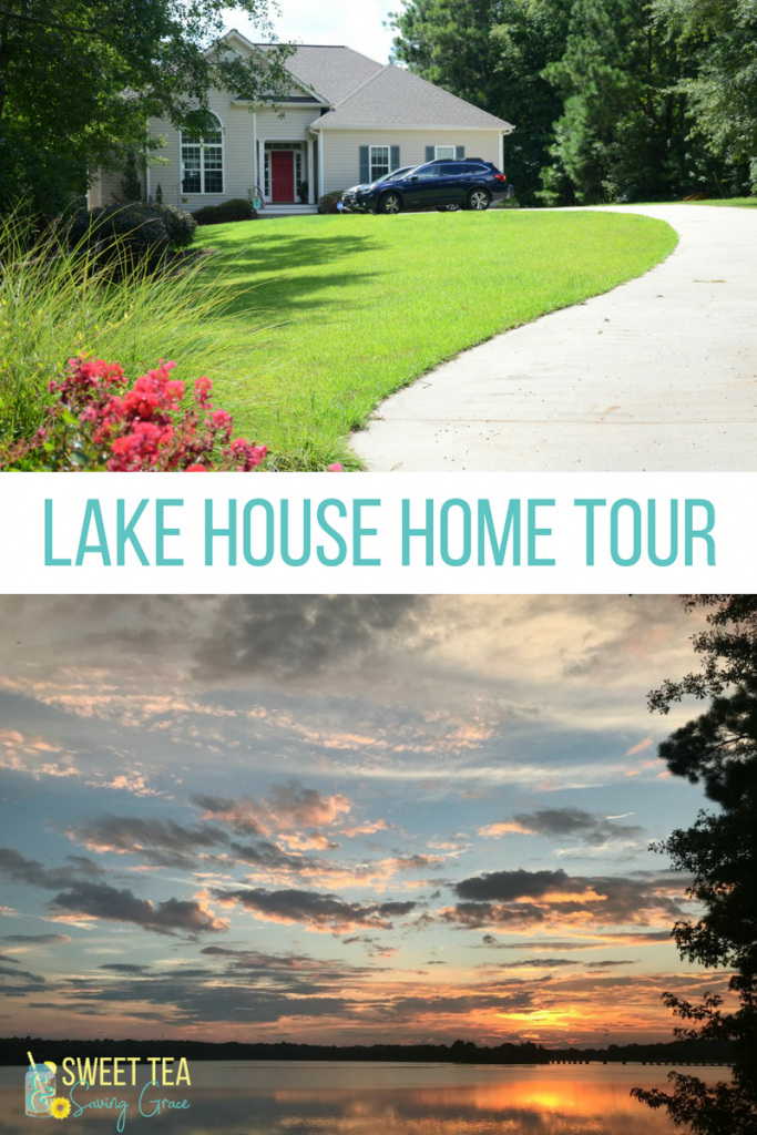 We moved into our dream home about a month ago, and now I'm giving you a lake house home tour (so far)!