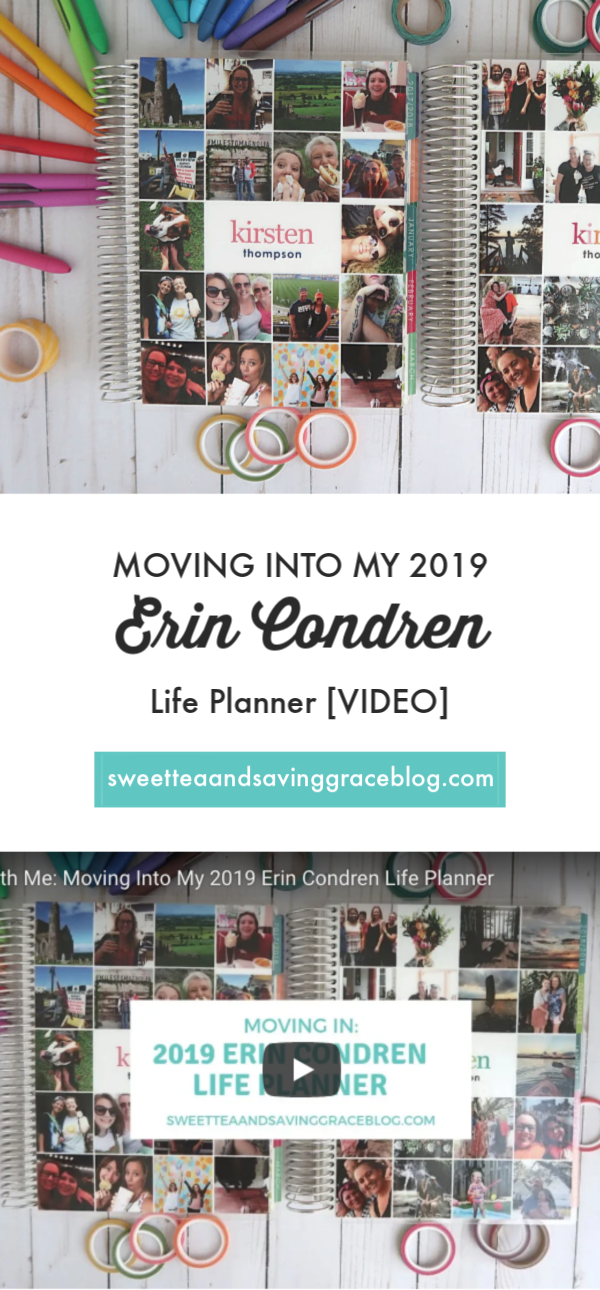 [VIDEO] Plan with me! I'm moving into my 2019 vertical Erin Condren Life Planner using colorful pens, a system to include all the important things in my life, and cute stickers from The Happy Planner collections and Cultivate What Matters!