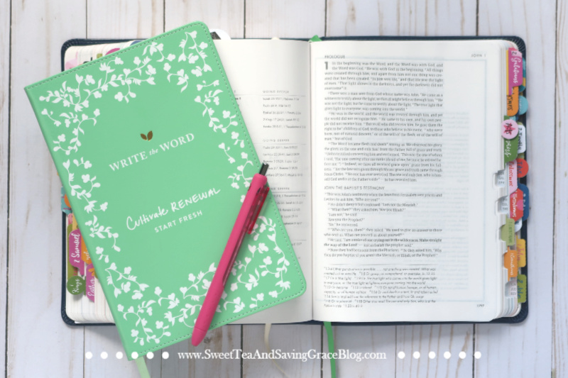 The Bible is a huge book, and oftentimes just cracking it open and finding a verse - any verse - can feel like a daunting task. If you struggle with knowing what to read, try a guided journal with Scripture references, like the Write the Word journals from Cultivate What Matters. This is just one way to create a daily Bible study habit!
