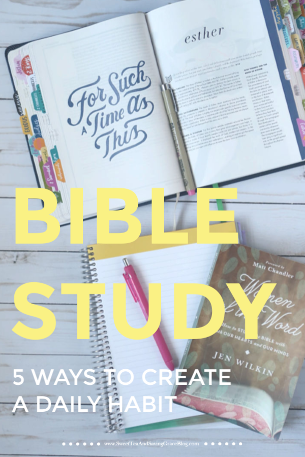 As Christians, we know we should create a regular habit of studying the Bible, but it's not always easy. Maybe we're busy, or we have a hard time finding a study we like, or sometimes we just don't feel like it! I understand these struggles, which is why I've put together 5 Ways to Create a Daily Bible Study Habit to help you dive into God's Word and improve your relationship with your Creator.