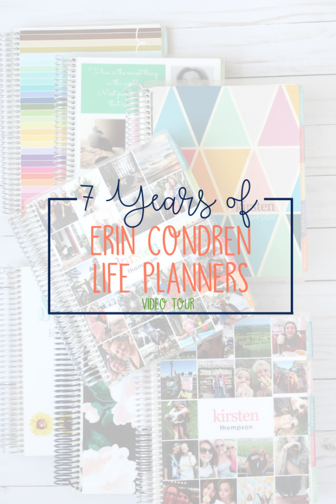 Erin Condren LifePlanners have changed over the years - the paper quality and design options just continue to improve. Take a video tour of 7 years of Erin Condren LifePlanners starting in 2012 to see the changes and the evolution of my planner style!