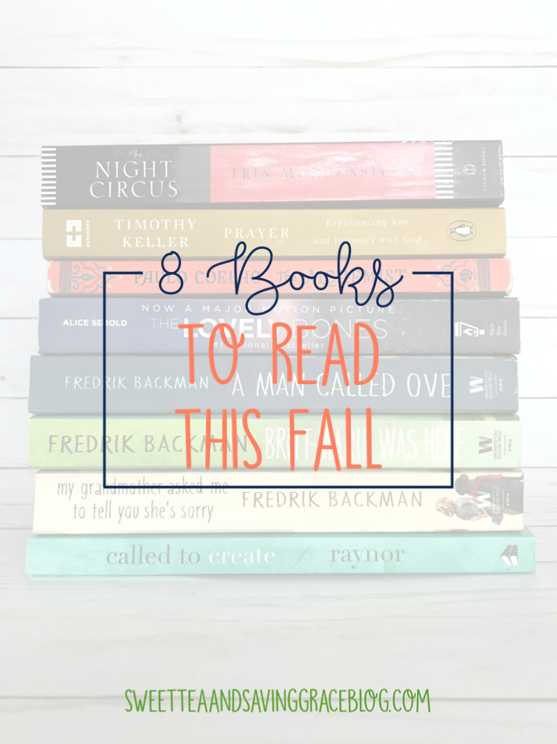 Fall is here and the holidays are coming, so take some time to slow down and enjoy some amazing books! I've compiled a list of 8 books to read this fall.