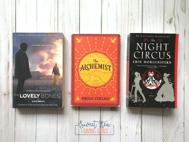 "I've put together a list of 8 books to read this fall, which includes ""The Lovely Bones"", ""The Alchemist"", and ""The Night Circus""."