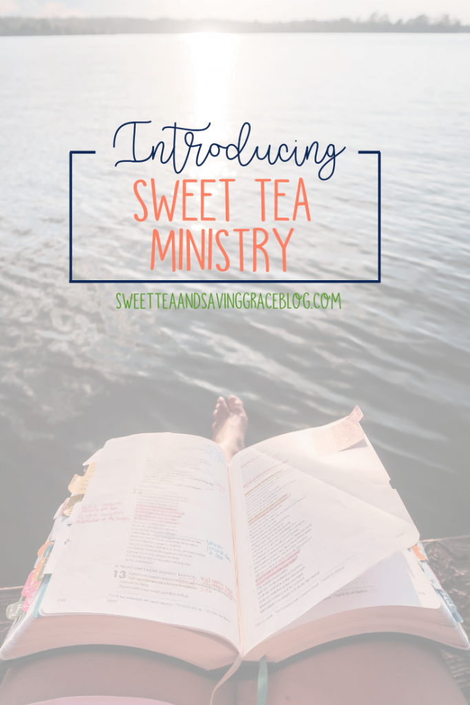Sweet Tea & Saving Grace is becoming Sweet Tea Ministry, with a two-fold mission: to help women study the Bible more often and more effectively, and to empower women to talk about God in their daily conversations.
