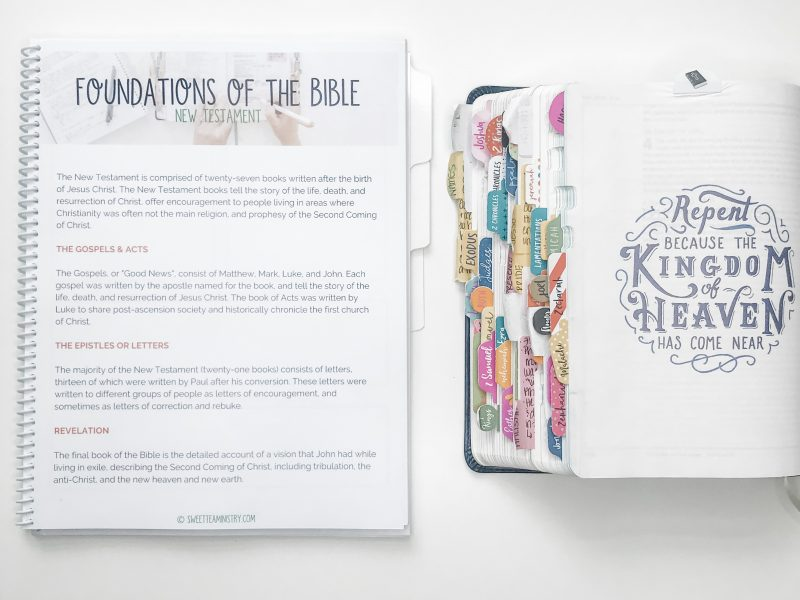Foundations of the Bible Reading Plan | Sweet Tea Ministry
