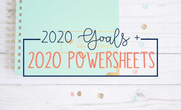 The all new 2020 PowerSheets by Cultivate What Matters are better than ever! This will be my 8th year goal-setting with PowerSheets and for good reason. Goals are set and it's time to get started!