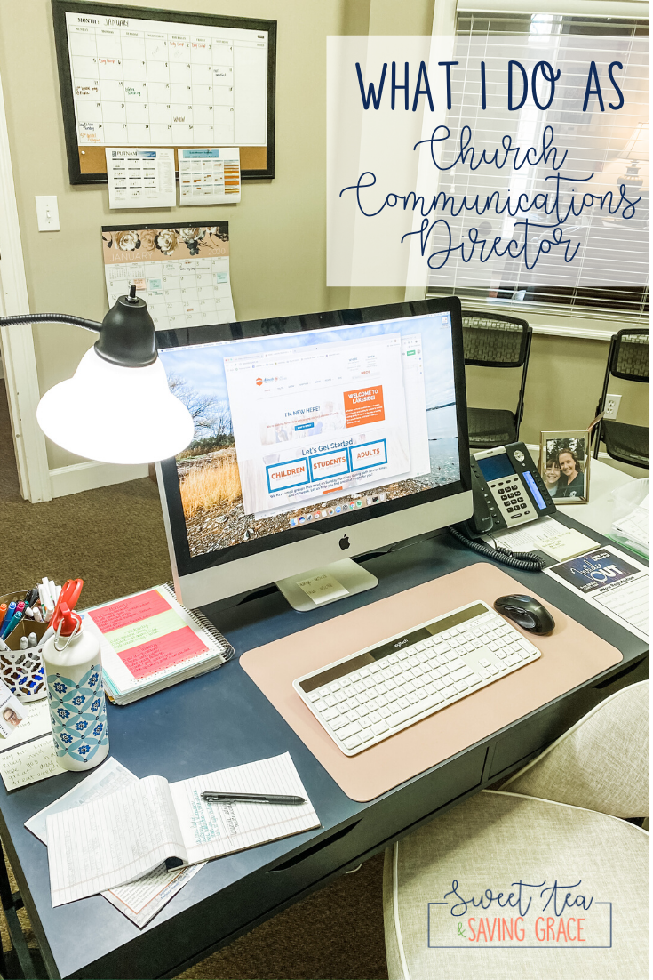 What I Do as a Church Communications Director | I'm a church communications director. Even people at my own church wonder what I do, so I'm sharing my responsibilities and projects that I work on in my day-to-day.
