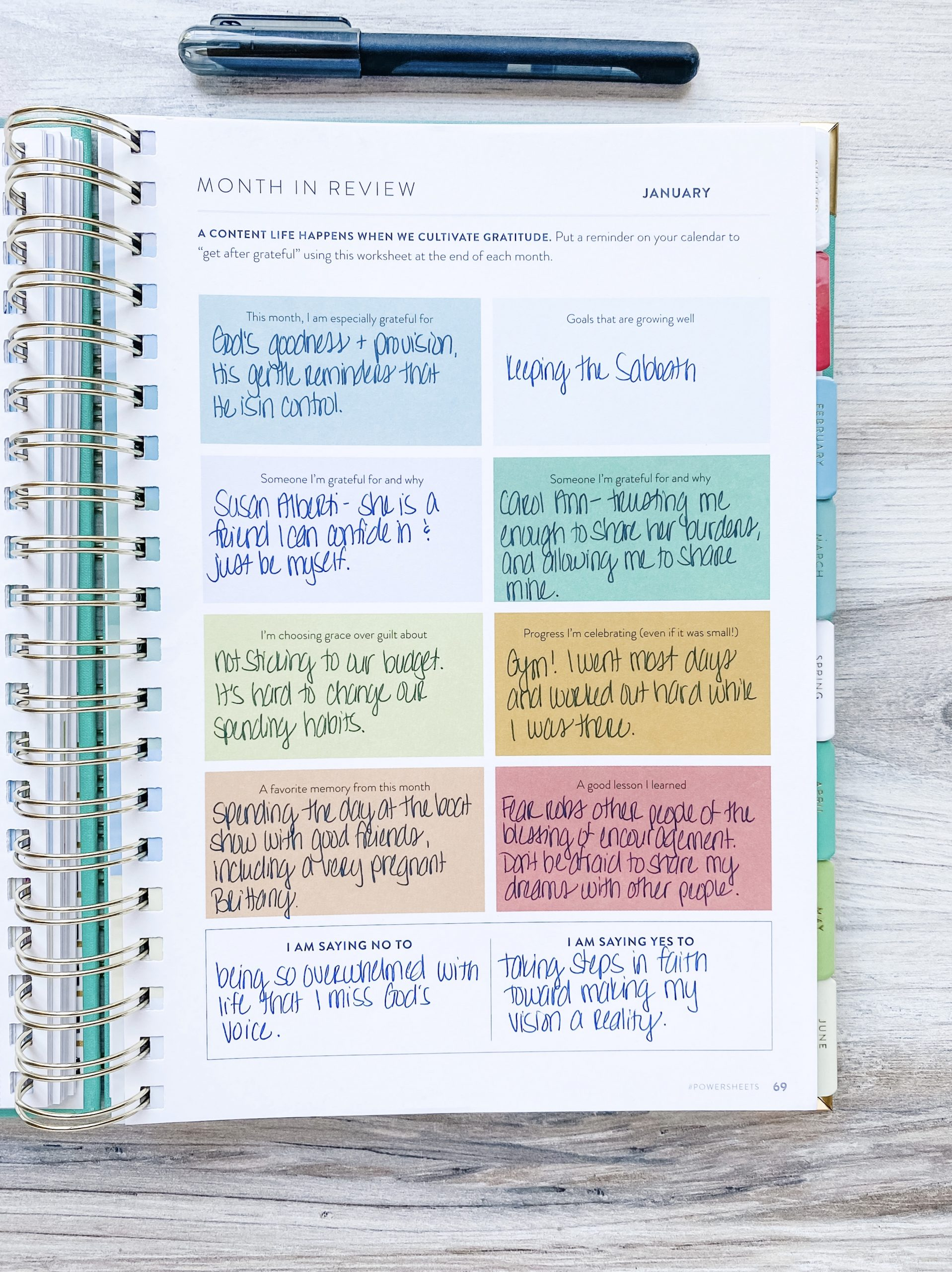 PowerSheets by Cultivate What Matters are a game-changer for my goals. I'm on my 8th set, and can tell you from experience that they work! Check out my progress on my January 2020 Tending List, and see my goals on the February 2020 Tending List.