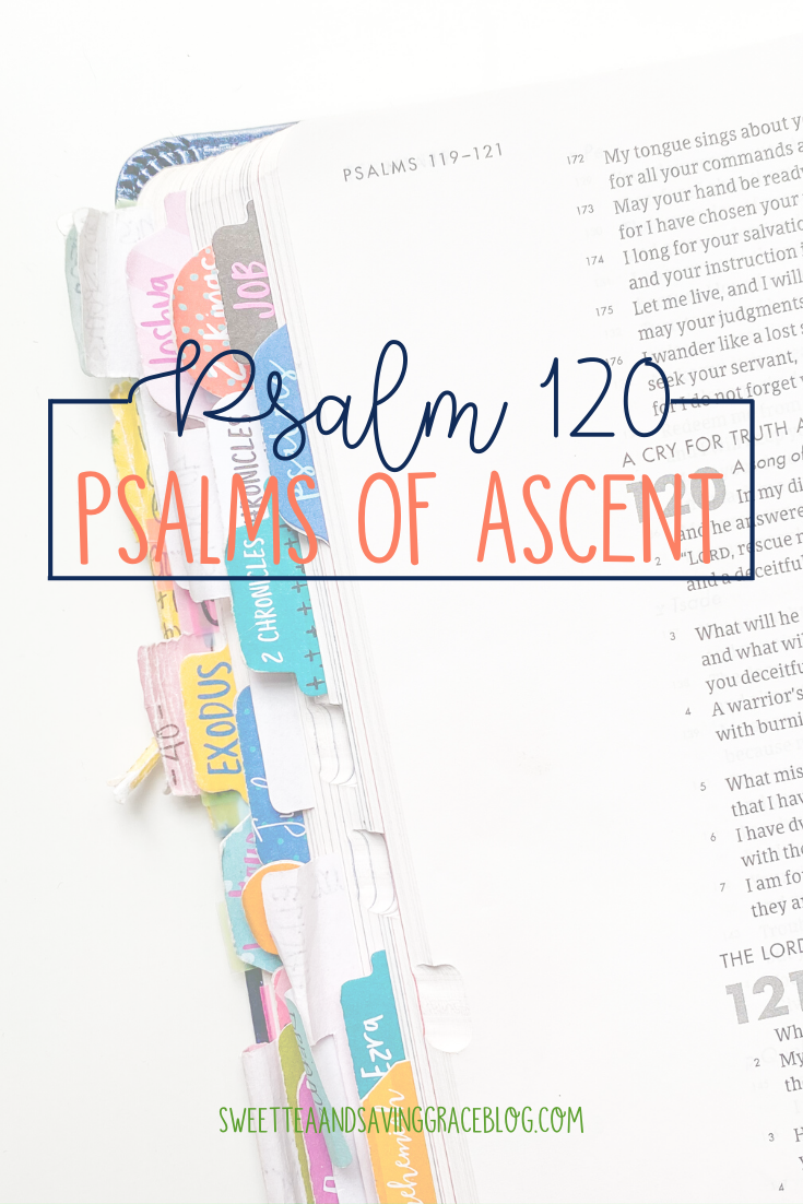 The Psalms of Ascent are a set of fifteen psalms that were traditionally sung as priests entered the temple, and Jews journeyed to the Holy Land to celebrate the Passover Festival. They offer hope, encouragement, and peace in a time of uncertainty. Today we will read and discuss Psalm 120, the first psalm in the psalms of ascents.