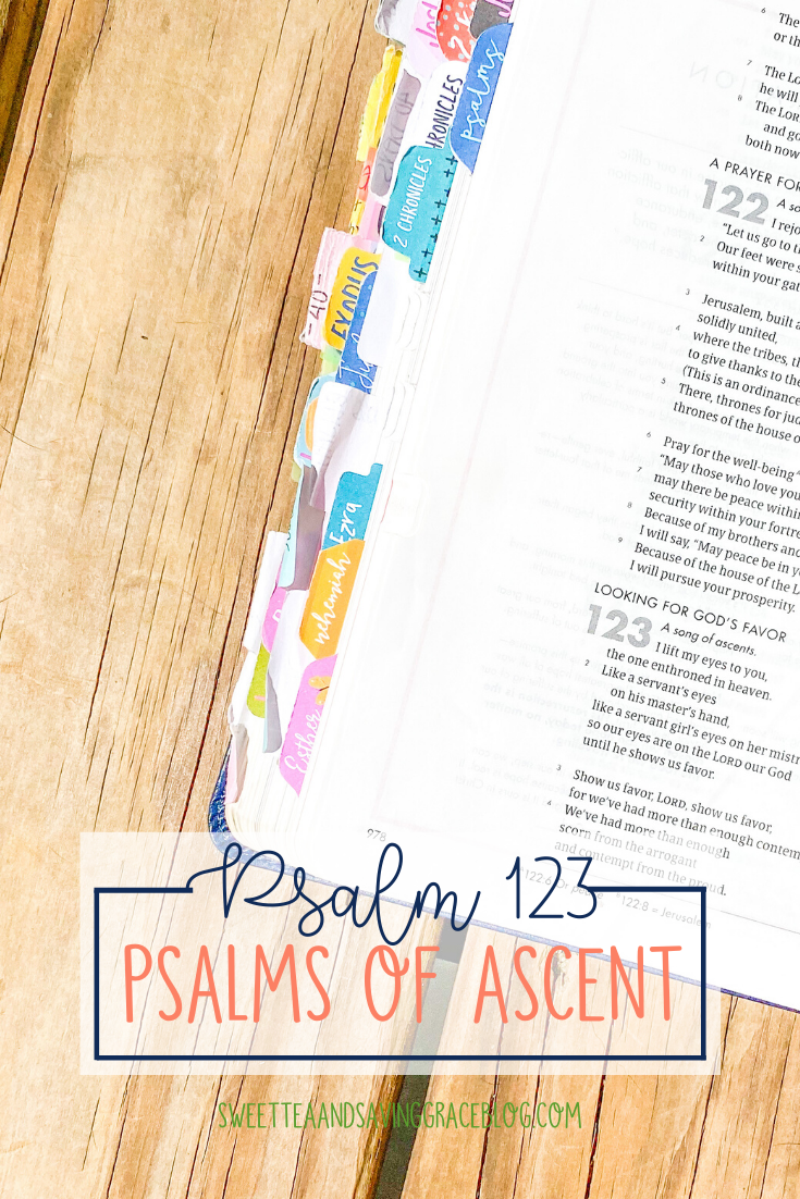 The Psalms of Ascent are a set of fifteen psalms that were traditionally sung as priests entered the temple, and Jews journeyed to the Holy Land to celebrate the Passover Festival. They offer hope, encouragement, and peace in a time of uncertainty. Today we will read and discuss Psalm 123, the fourth psalm in the psalms of ascents.