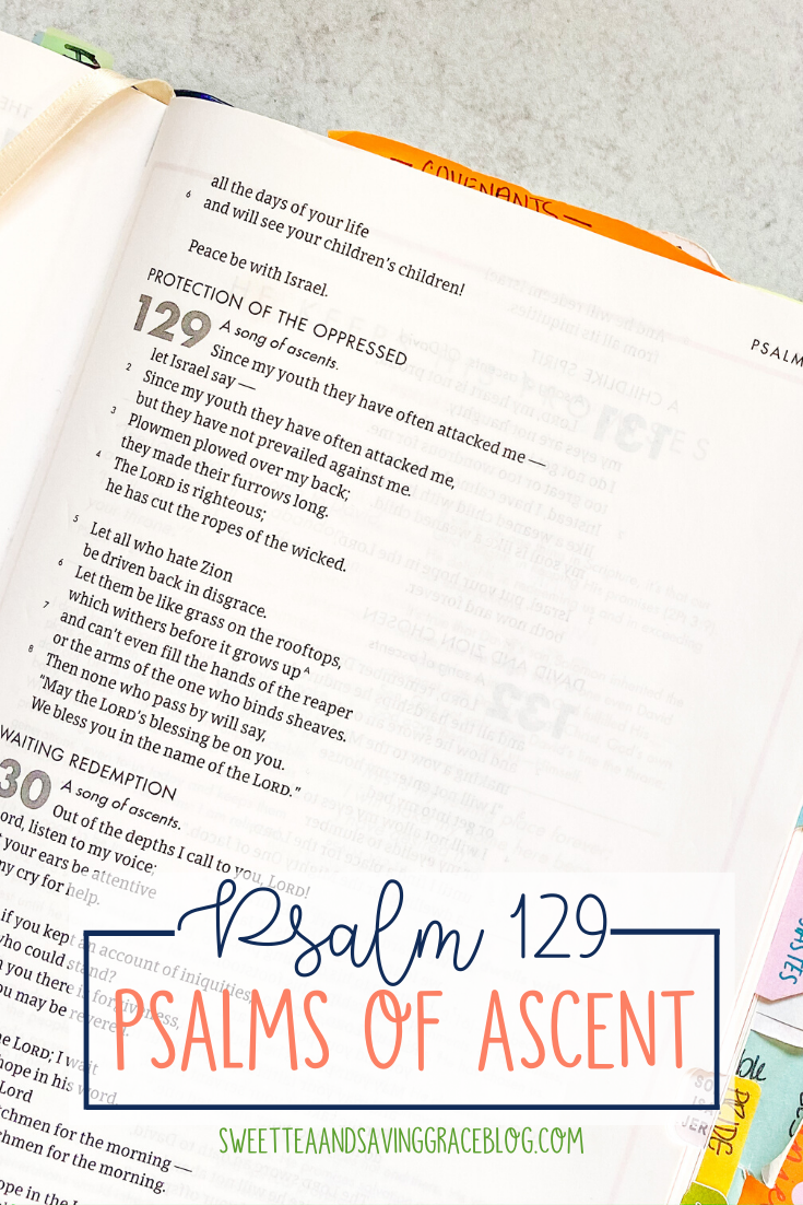 The Psalms of Ascent are a set of fifteen psalms that were traditionally sung as priests entered the temple, and Jews journeyed to the Holy Land to celebrate the Passover Festival. They offer hope, encouragement, and peace in a time of uncertainty. Today we will read and discuss Psalm 129, the tenth psalm in the psalms of ascents.