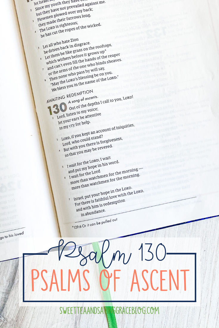 The Psalms of Ascent are a set of fifteen psalms that were traditionally sung as priests entered the temple, and Jews journeyed to the Holy Land to celebrate the Passover Festival. They offer hope, encouragement, and peace in a time of uncertainty. Today we will read and discuss Psalm 130, the eleventh psalm in the psalms of ascents.