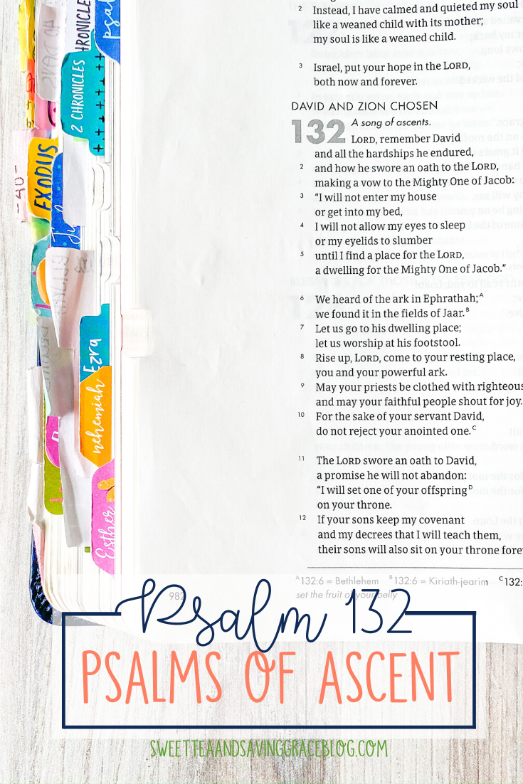 The Psalms of Ascent are a set of fifteen psalms that were traditionally sung as priests entered the temple, and Jews journeyed to the Holy Land to celebrate the Passover Festival. They offer hope, encouragement, and peace in a time of uncertainty. Today we will read and discuss Psalm 132, the thirteenth psalm in the psalms of ascents.