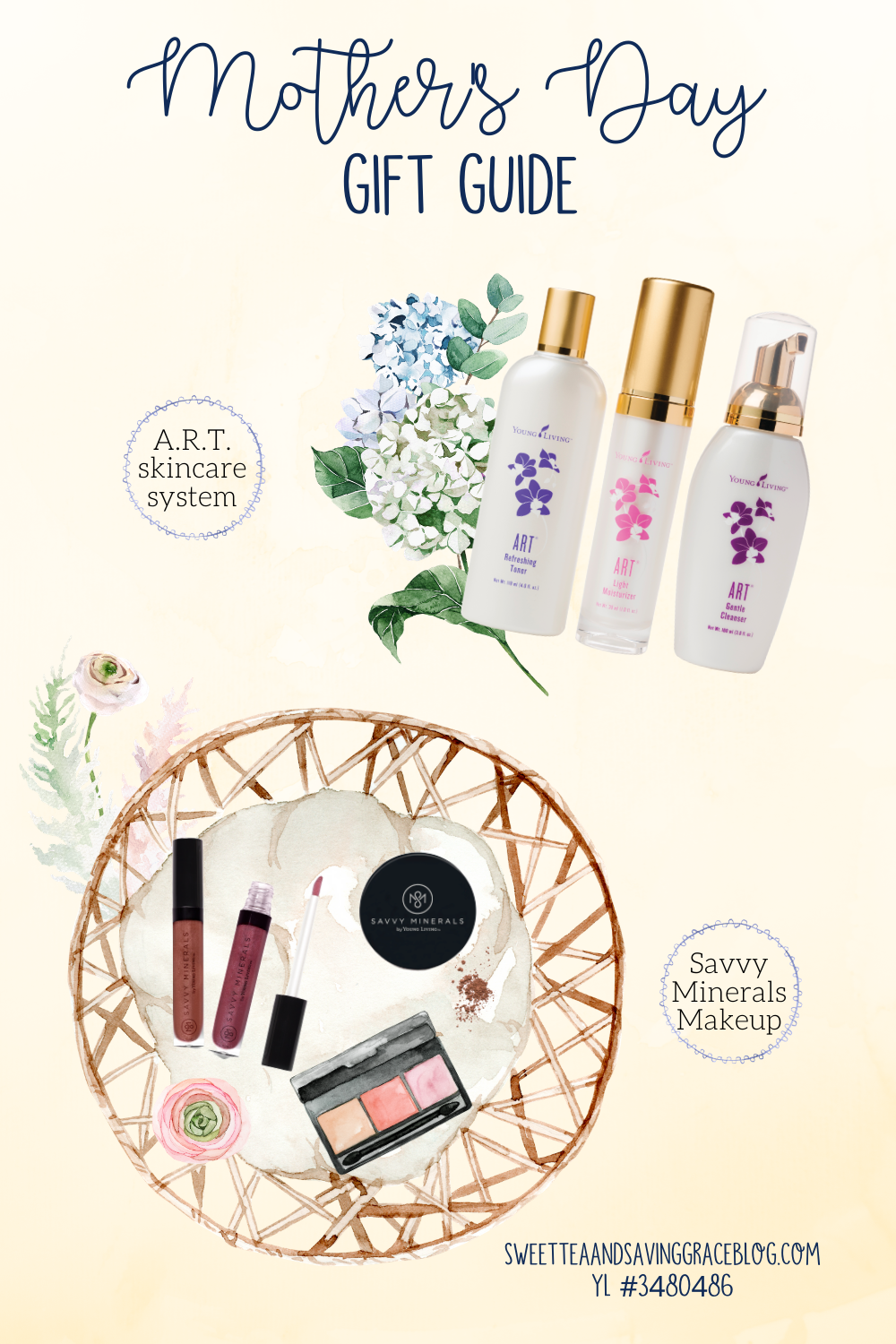mother's day wellness gift guide young living essential oils non-toxic all-natural skincare makeup savvy minerals makeup art skincare
