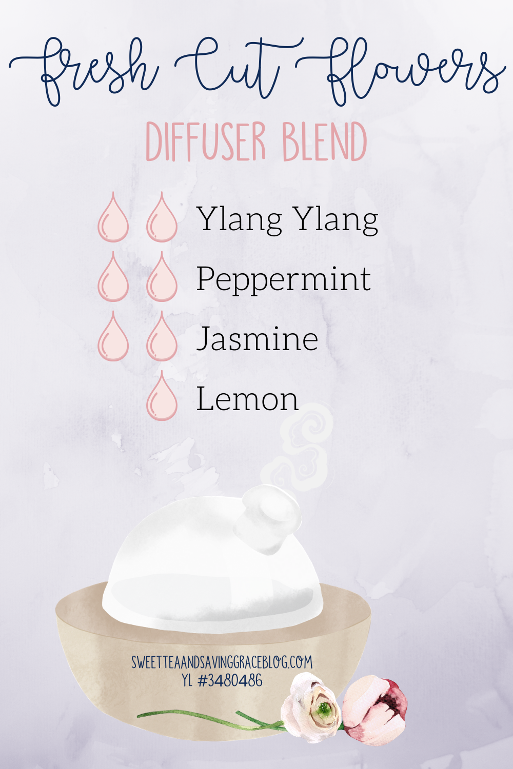 mother's day wellness gift guide young living essential oil diffuser blend fresh cut flowers