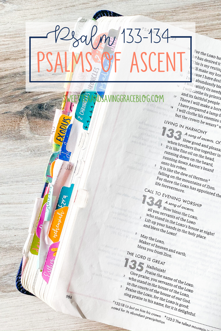 The Psalms of Ascent are a set of fifteen psalms that were traditionally sung as priests entered the temple, and Jews journeyed to the Holy Land to celebrate the Passover Festival. They offer hope, encouragement, and peace in a time of uncertainty. Today we will read and discuss Psalm 133 and Psalm 134, the final two psalms in the psalms of ascents.