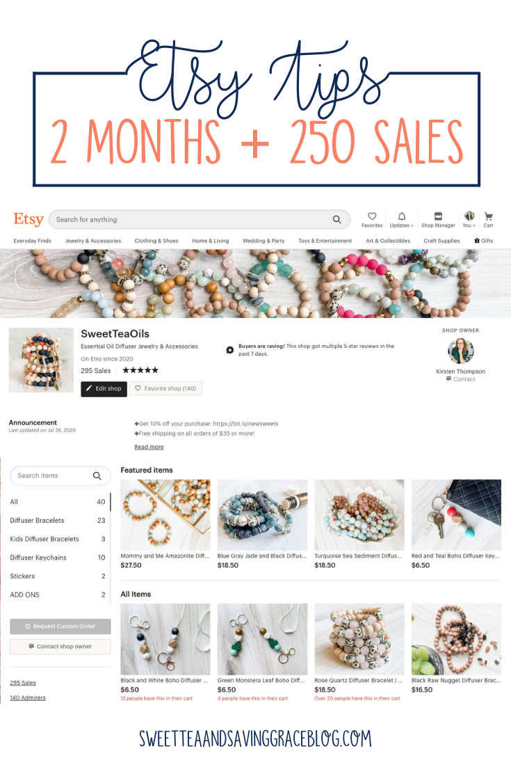 I started my Etsy shop, Sweet Tea Oils, on June 1, 2020, and in a very short period of time (two months, actually) I surpassed 250 sales. It was more than I anticipated, and I had to scale my business quickly. I learned a few things from my first 250+ sales, and wanted to share them to maybe help other makers have success.